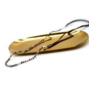 CatstoneNYC Multicolor Bead Faux Leather Bracelet